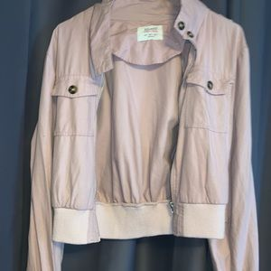 Jackets & Blazers - Light pink jacket w zipper and buttons w pockets